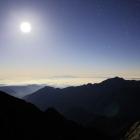 85.月夜の笠ヶ岳