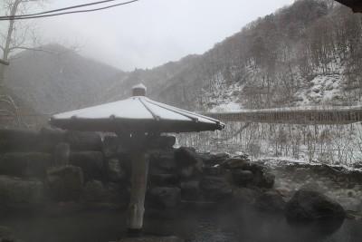 高山市奥飛騨温泉郷新穂高温泉深山荘雪の現状
