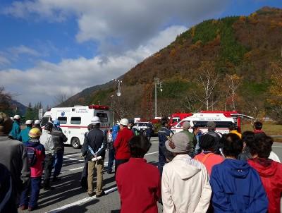 焼岳火山噴火警戒避難訓練