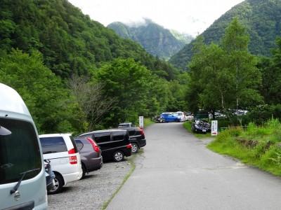 深山荘対岸無料駐車場